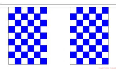 BLUE & WHITE CHECKERED BUNTING - 9 METRES 30 FLAGS